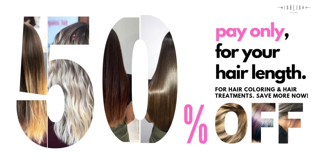 BEST HAIR COLOR SALON IN DUBAI HS 50 OFFER BANNER APRIL 2019 1